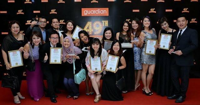 Senarai Pemenang Anugerah Pilihan Pengguna Guardian (PCA) 2016