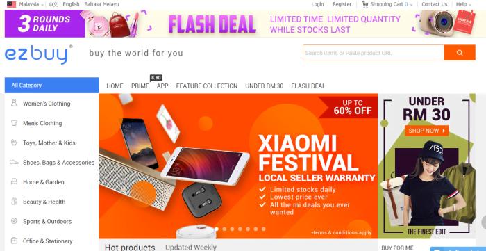 Seronok Shopping di Ez Buy Online Malaysia