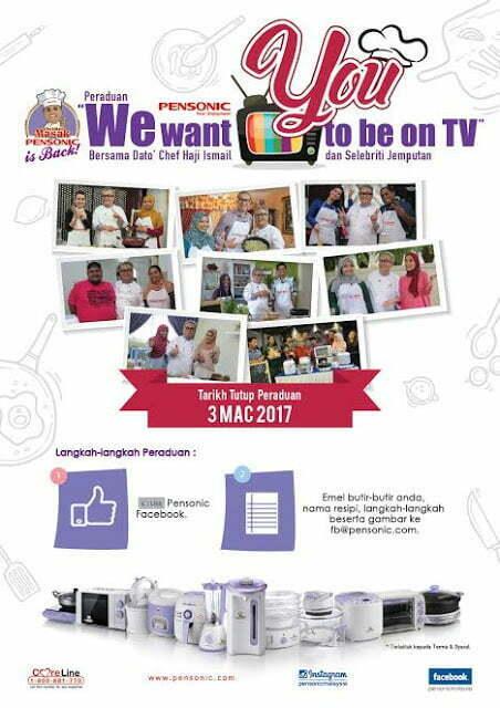 """We Want You To Be On TV"" Bersama Dato' Chef Haji Ismail & Pensonic"