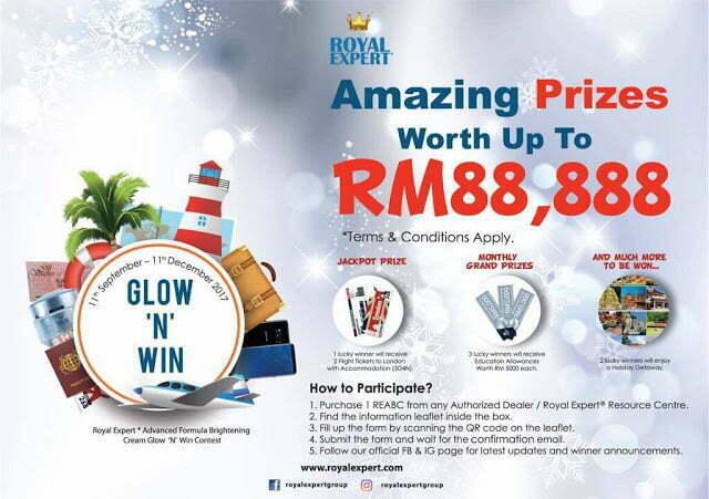 Jom Sertai Peraduan Royal Expert Glow & Win