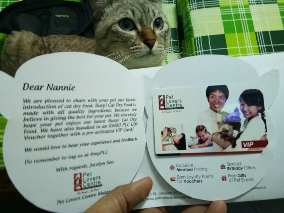 Burp! Makanan Kucing Terbaru di Pet Lovers Centre Malaysia