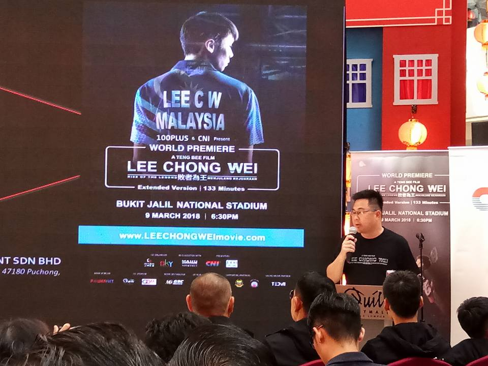 Lee Chong Wei The Movie Tayangan Perdana 9 Mac 2018