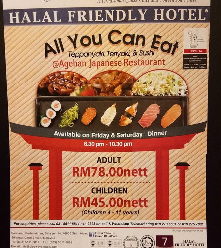 Agehan Japanese Rest - Grand Bluewave Hotel Promosi All You Can Eat
